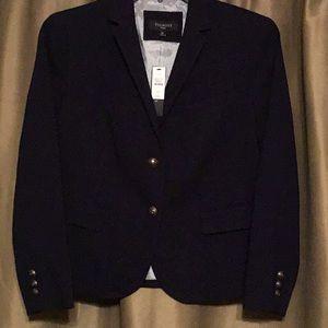 New Talbots Navy Blue Blazer  Size 12 Petite